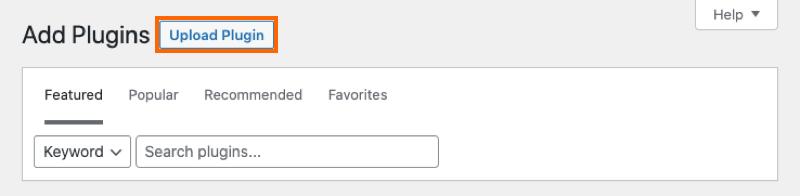 Upload Plugin Button - Facebook 4.0