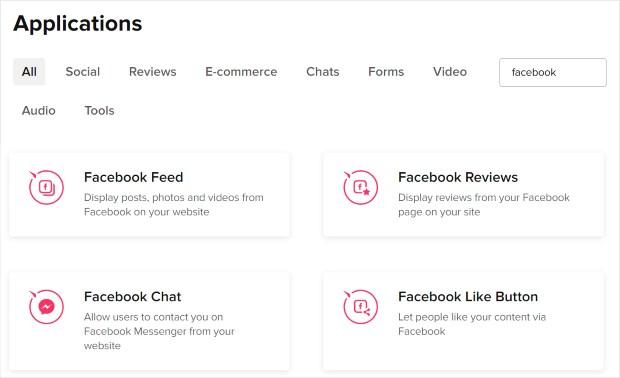 facebook apps for elfsight
