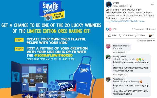 facebook contest oreos