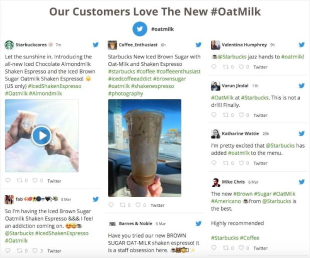 hashtag feed for twitter reviews