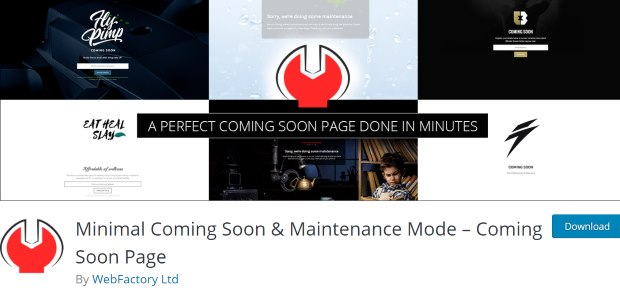 minimal coming soon and maintenance page