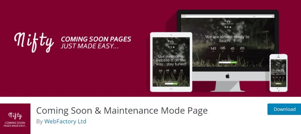 nifty best coming soon plugin wordpress