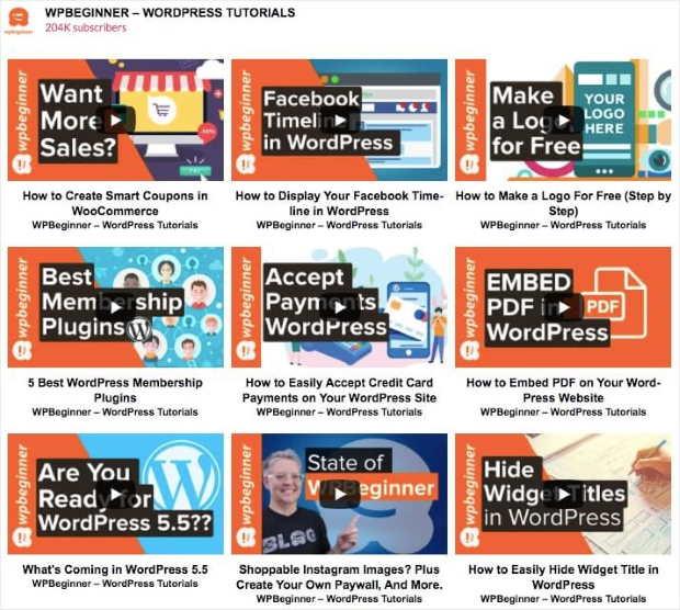 video feed example for social media marketing