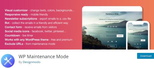 wp best maintenance mode plugin