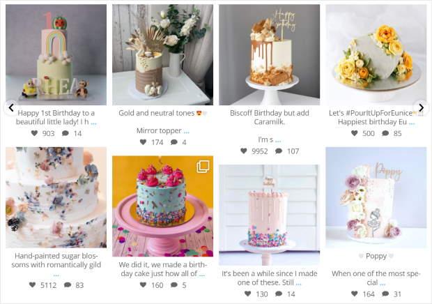 carousel instagram feed for divi