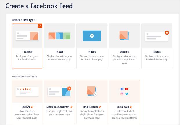 create a facebook feed easily