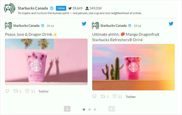 customizable twitter feed example