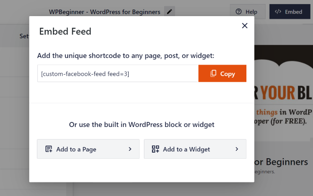 embed facebook feed pro