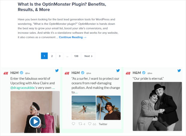 embed twitter feed footer