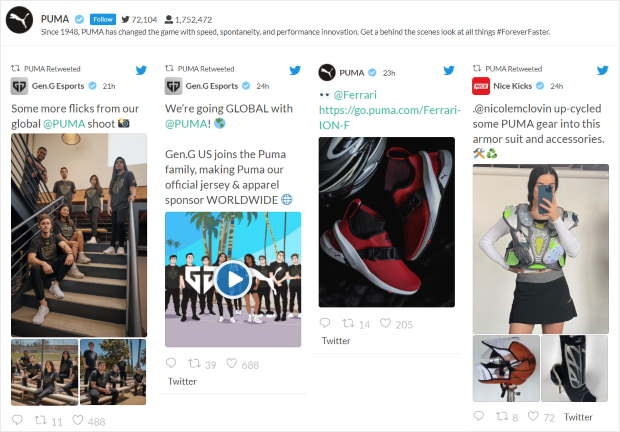 embed twitter feeds on your website