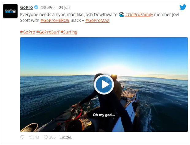 example of video on twitter