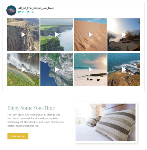 smash balloon instagram feed for elementor