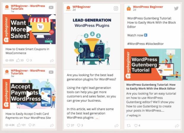 social wall pro feed aggregator example