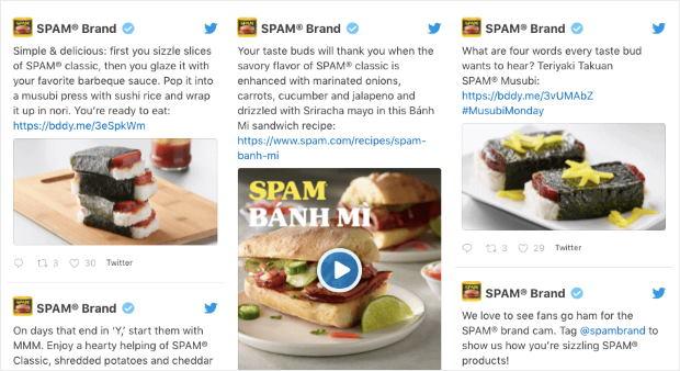 social wall pro plugin example of feed