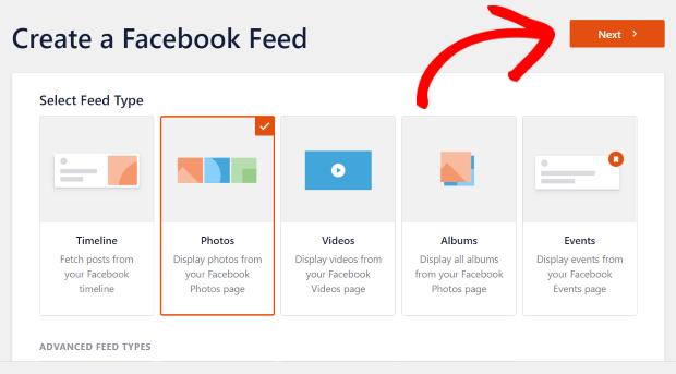 add facebook photo feed