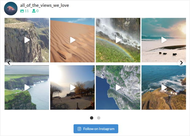 carousel layout for your instagram feeds