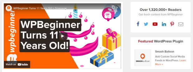 celebrate milestone on your website