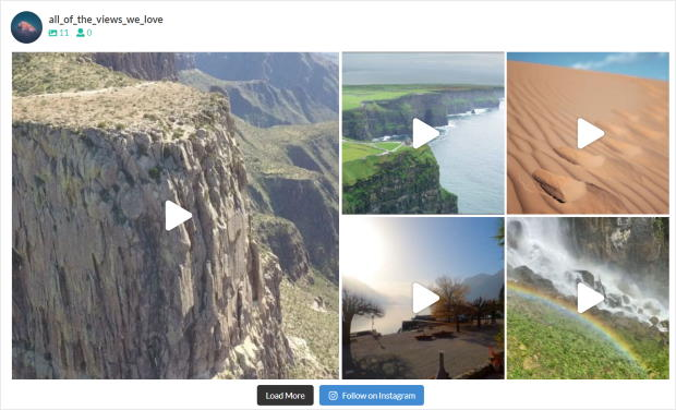 highlights feed layout for instagram