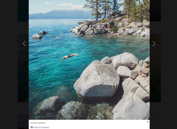 lightbox for your facebook album feed
