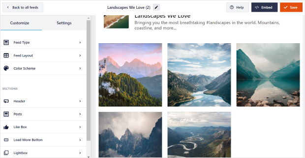 live feed editor for facebook
