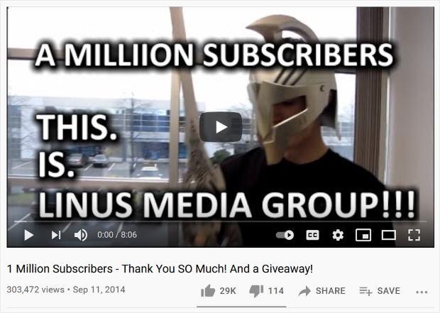 milestone celebration to promote youtube videos