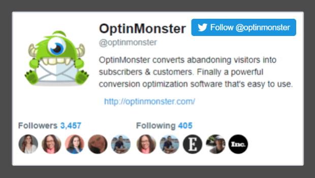 optinmonster twitter popup