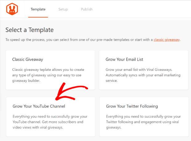 rafflepress youtube template