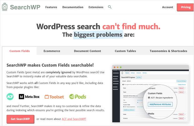 searchwp best wordpress search plugin