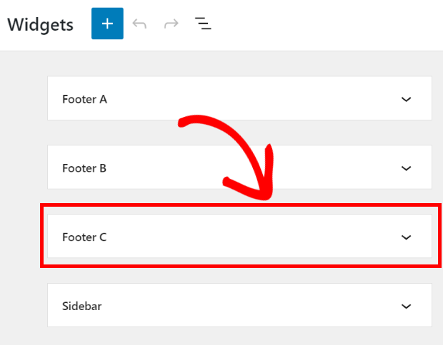 select footer for facebook review widget