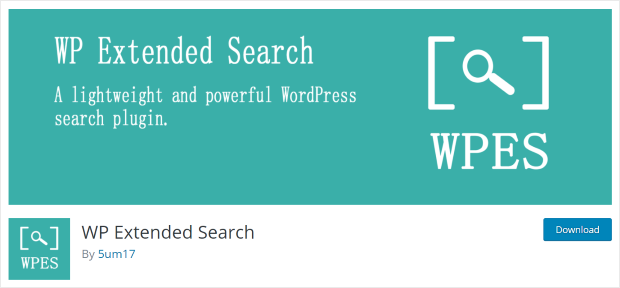 wp extended search plugin