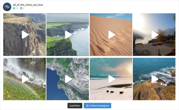 your instagram video feed