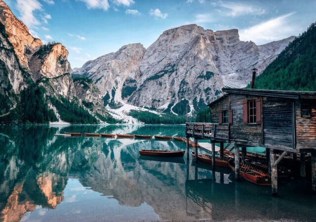 Hidden deep inside a mountainous paradise. #mountains