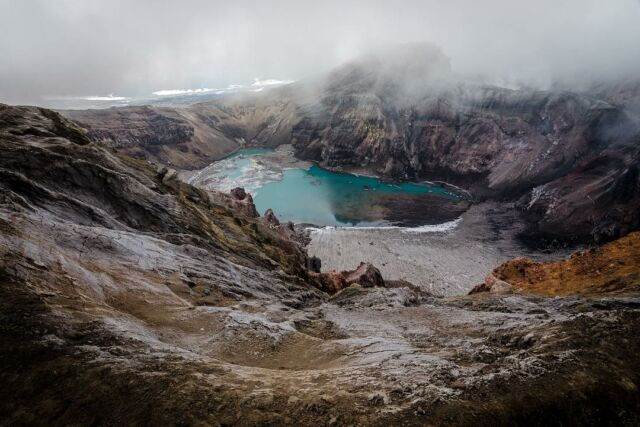 An oasis in the middle of a mist-shrouded cauldron #wilderness #mountainous