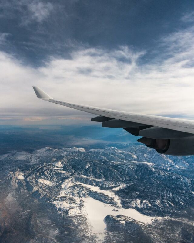 Snow-capped mountains as far as the eye can see #mountains #flying