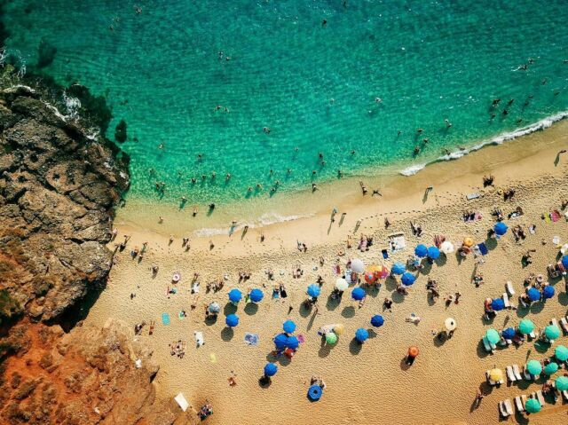 Locals flock to the crystal blue waters of the Mediterranean #beach #summer