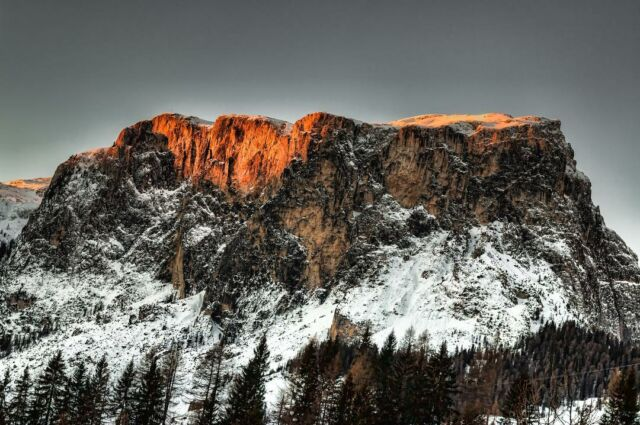 The morning sun warms the mountain top as it calls forth another day of wonder. #morning